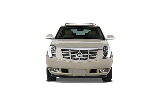 AUT 50 IZ0213 01 © Kimball Stock 2014 Cadillac Escalade AWD 5-Door SUV Front View In Studio