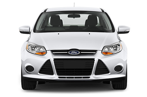 AUT 50 IZ0346 01 © Kimball Stock 2014 Ford Focus Sedan SE 4-Door Front View In Studio
