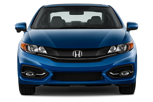AUT 50 IZ0374 01 © Kimball Stock 2015 Honda Civic Coupe EX-L Automatic 2-Door Front View In Studio