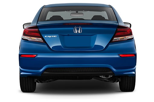 AUT 50 IZ0376 01 © Kimball Stock 2015 Honda Civic Coupe EX-L Automatic 2-Door Rear View In Studio