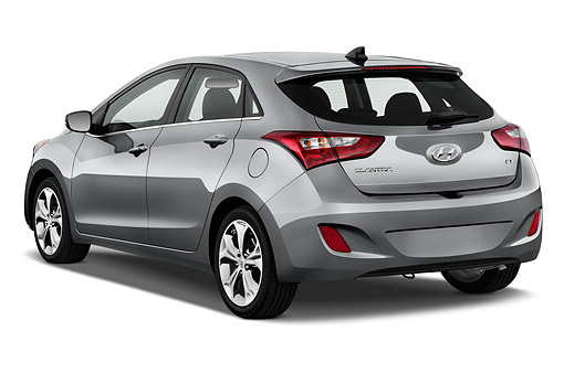 AUT 50 IZ0407 01 © Kimball Stock 2015 Hyundai Elantra GT 1.8 6 Speed AT 5-Door Hatchback 3/4 Rear View In Studio