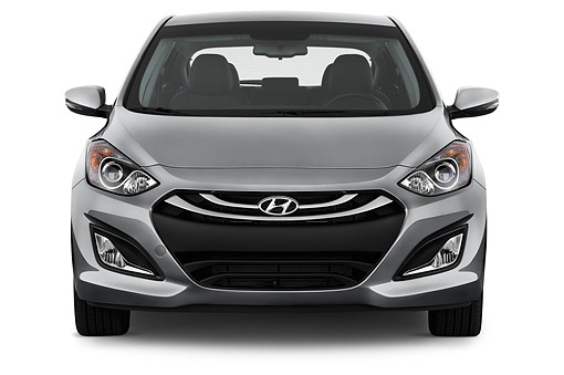 AUT 50 IZ0409 01 © Kimball Stock 2015 Hyundai Elantra GT 1.8 6 Speed AT 5-Door Hatchback Front View In Studio