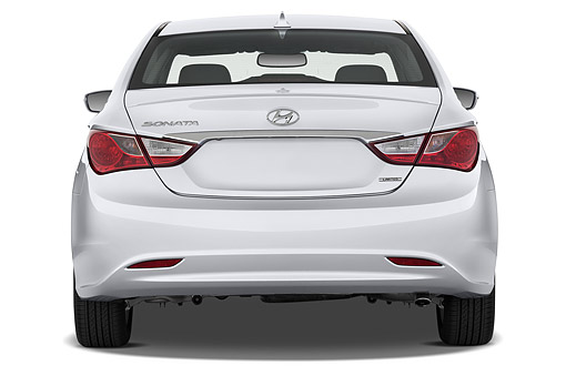 AUT 50 IZ0455 01 © Kimball Stock 2014 Hyundai Sonata Limited I4 AT 4-Door Sedan Rear View In Studio