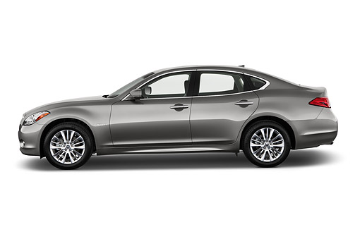 AUT 50 IZ0518 01 © Kimball Stock 2014 Infiniti Q70 Hybrid 4-Door Sedan Profile View In Studio