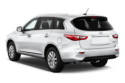 AUT 50 IZ0528 01 © Kimball Stock 2014 Infiniti QX60 3.5 5-Door SUV 3/4 Rear View In Studio