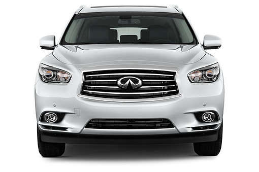 AUT 50 IZ0530 01 © Kimball Stock 2014 Infiniti QX60 3.5 5-Door SUV Front View In Studio