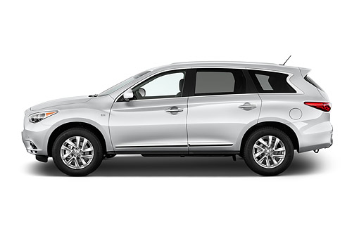 AUT 50 IZ0532 01 © Kimball Stock 2014 Infiniti QX60 3.5 5-Door SUV Profile View In Studio