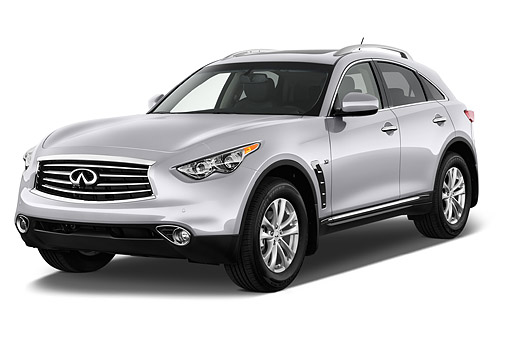 AUT 50 IZ0534 01 © Kimball Stock 2015 Infiniti QX70 3.5 5-Door SUV 3/4 Front View In Studio