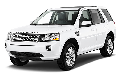 AUT 50 IZ0673 01 © Kimball Stock 2014 Land Rover LR2 Base 5-Door SUV 3/4 Front View In Studio
