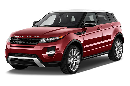 AUT 50 IZ0687 01 © Kimball Stock 2015 Land Rover Range Rover Evoque Pure 5-Door SUV 3/4 Front View In Studio