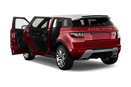 AUT 50 IZ0689 01 © Kimball Stock 2015 Land Rover Range Rover Evoque Pure 5-Door SUV 3/4 Rear View In Studio
