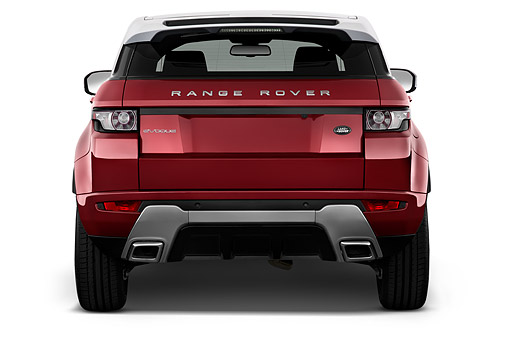 AUT 50 IZ0691 01 © Kimball Stock 2015 Land Rover Range Rover Evoque Pure 5-Door SUV Rear View In Studio