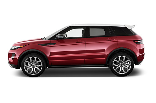 AUT 50 IZ0692 01 © Kimball Stock 2015 Land Rover Range Rover Evoque Pure 5-Door SUV Profile View In Studio