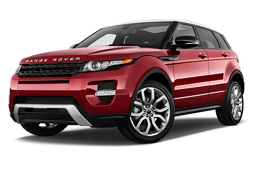 AUT 50 IZ0693 01 © Kimball Stock 2015 Land Rover Range Rover Evoque Pure 5-Door SUV 3/4 Front View In Studio