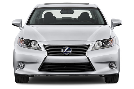 AUT 50 IZ0697 01 © Kimball Stock 2015 Lexus ES 300h 4-Door Sedan Front View In Studio