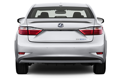 AUT 50 IZ0698 01 © Kimball Stock 2015 Lexus ES 300h 4-Door Sedan Rear View In Studio
