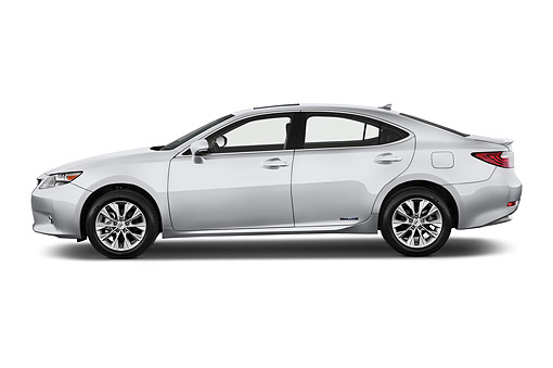 AUT 50 IZ0699 01 © Kimball Stock 2015 Lexus ES 300h 4-Door Sedan Profile View In Studio