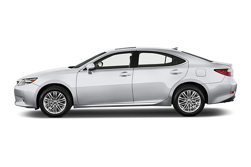 AUT 50 IZ0706 01 © Kimball Stock 2015 Lexus ES 350 4-Door Sedan Profile View In Studio
