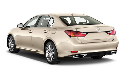AUT 50 IZ0709 01 © Kimball Stock 2014 Lexus GS 350 4-Door Sedan 3/4 Rear View In Studio