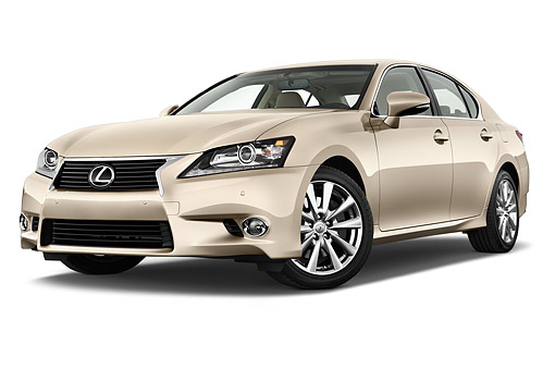 AUT 50 IZ0714 01 © Kimball Stock 2014 Lexus GS 350 4-Door Sedan 3/4 Front View In Studio