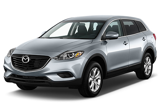 AUT 50 IZ0729 01 © Kimball Stock 2015 Mazda CX-9 Sport FWD 5-Door SUV 3/4 Front View In Studio