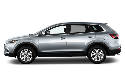AUT 50 IZ0734 01 © Kimball Stock 2015 Mazda CX-9 Sport FWD 5-Door SUV Profile View