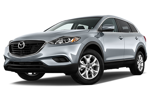 AUT 50 IZ0735 01 © Kimball Stock 2015 Mazda CX-9 Sport FWD 5-Door SUV 3/4 Front View In Studio