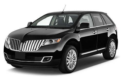 AUT 50 IZ0771 01 © Kimball Stock 2015 Lincoln MKX FWD 5-Door SUV 3/4 Front View In Studio