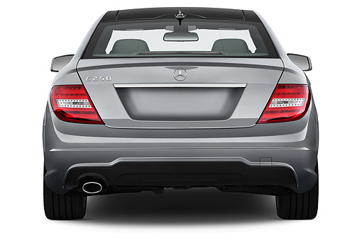 AUT 50 IZ0845 01 © Kimball Stock 2015 Mercedes Benz C Class 250 Sport Coupe 2-Door Rear View In Studio