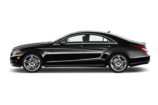 AUT 50 IZ0874 01 © Kimball Stock 2014 Mercedes Benz CLS Class 63 AMG 2-Door Coupe Profile View In Studio