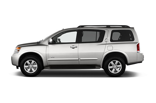AUT 50 IZ0923 01 © Kimball Stock 2015 Nissan Armada SV 4x2 5-Door SUV Profile View In Studio