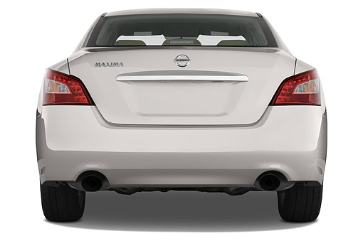 AUT 50 IZ0943 01 © Kimball Stock 2014 Nissan Maxima 3.5s 4-Door Sedan Rear View In Studio