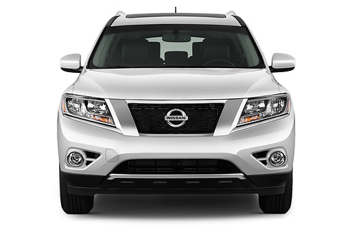 AUT 50 IZ0963 01 © Kimball Stock 2015 Nissan Pathfinder SL 2WD 5-Door SUV Front View In Studio