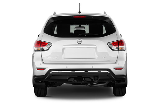 AUT 50 IZ0964 01 © Kimball Stock 2015 Nissan Pathfinder SL 2WD 5-Door SUV Rear View In Studio