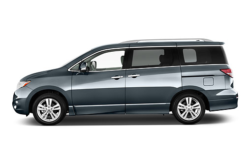 AUT 50 IZ0979 01 © Kimball Stock 2014 Nissan Quest 3.5 LE 4-Door Van Profile View In Studio