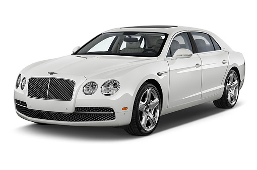 AUT 50 IZ1060 01 © Kimball Stock 2014 Bentley Continental Flying Spur Sedan 4-Door 3/4 Front View In Studio