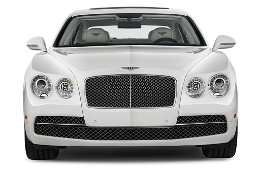 AUT 50 IZ1063 01 © Kimball Stock 2014 Bentley Continental Flying Spur Sedan 4-Door Front View In Studio