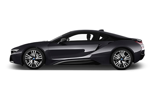 AUT 50 IZ1072 01 © Kimball Stock 2014 BMW i8 Hybrid 2-Door Coupe Profile View In Studio