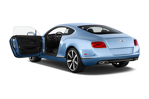 AUT 50 IZ1089 01 © Kimball Stock 2014 Continental GT V8 Coupe 2-Door 3/4 Rear View In Studio
