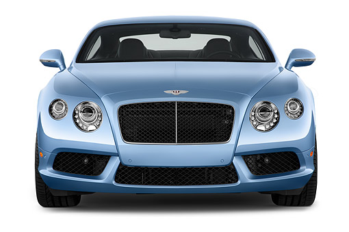 AUT 50 IZ1090 01 © Kimball Stock 2014 Continental GT V8 Coupe 2-Door Front View In Studio