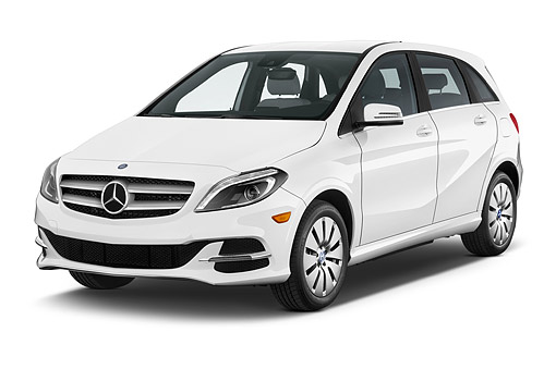AUT 50 IZ1101 01 © Kimball Stock 2014 Mercedes Benz B Class Electric Drive 5-Door MPV 3/4 Front View In Studio