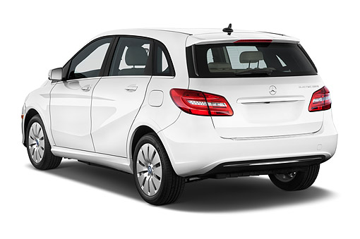 AUT 50 IZ1102 01 © Kimball Stock 2014 Mercedes Benz B Class Electric Drive 5-Door MPV 3/4 Rear View In Studio