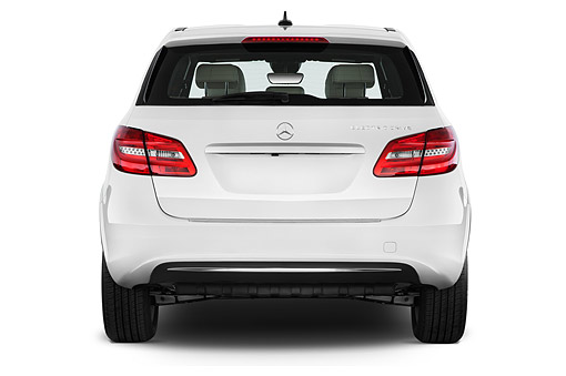 AUT 50 IZ1105 01 © Kimball Stock 2014 Mercedes Benz B Class Electric Drive 5-Door MPV Rear View In Studio