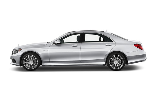 AUT 50 IZ1113 01 © Kimball Stock 2014 Mercedes Benz C Class S63 AMG 4-Door Sedan Profile View In Studio