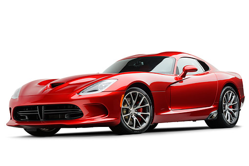 AUT 50 RK0008 01 © Kimball Stock 2014 SRT Viper GTS Red 3/4 Front View On White Seamless