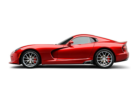 AUT 50 RK0010 01 © Kimball Stock 2014 SRT Viper GTS Red Profile View On White Seamless
