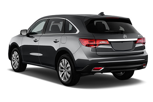 AUT 51 IZ0062 01 © Kimball Stock 2015 Acura MDX 3.7 Technology Package 5-Door SUV 3/4 Rear View In