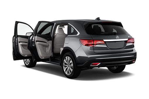 AUT 51 IZ0063 01 © Kimball Stock 2015 Acura MDX 3.7 Technology Package 5-Door SUV 3/4 Rear View In