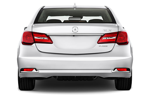 AUT 51 IZ0080 01 © Kimball Stock 2015 Acura RLX 3.5 Auto 4-Door Sedan Rear View In Studio