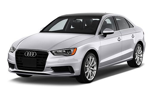 AUT 51 IZ0083 01 © Kimball Stock 2015 Audi A3 2.0 T DSG 4-Door Sedan 3/4 Front View In Studio